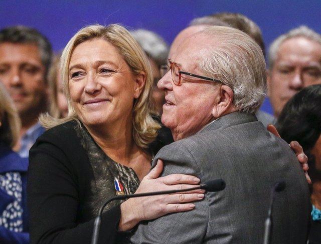 Marine y Jean-Marie Le Pen
