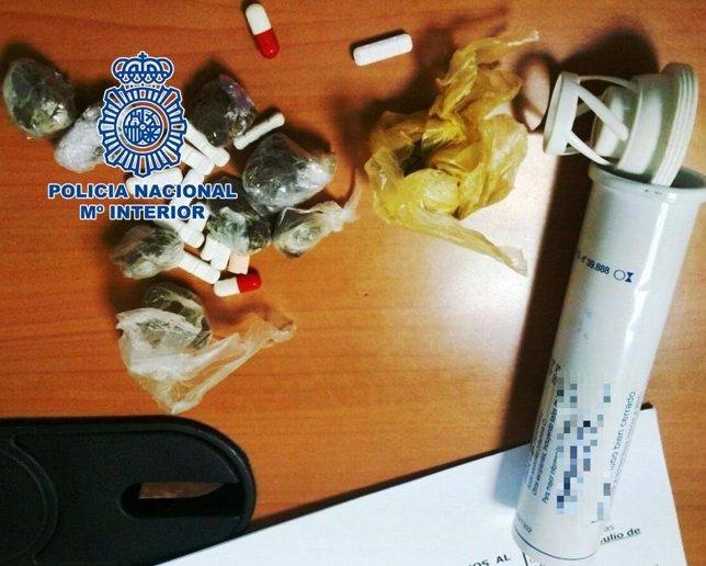 Droga intervenida por la Policía Nacional en Melilla