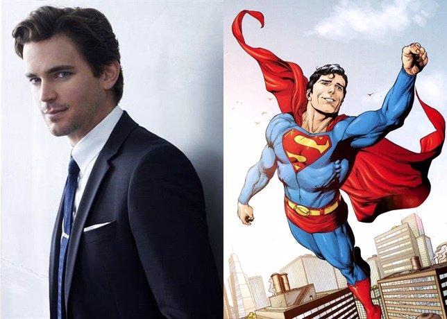 Imágenes de Matt Bomer y el cómic de Superman