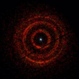 Anillos concéntricos de una emisión de agujero negro