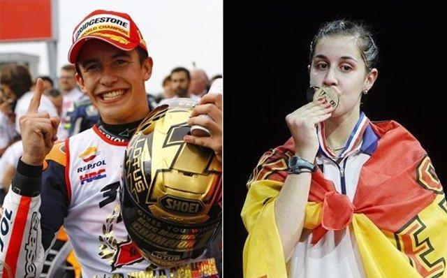 Marc Márquez y Carolina Marín, mejores deportistas españoles de 2014