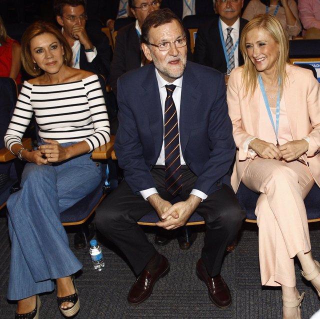 Mariano Rajoy, María Dolores de Cospedal y Cristina Cifuentes