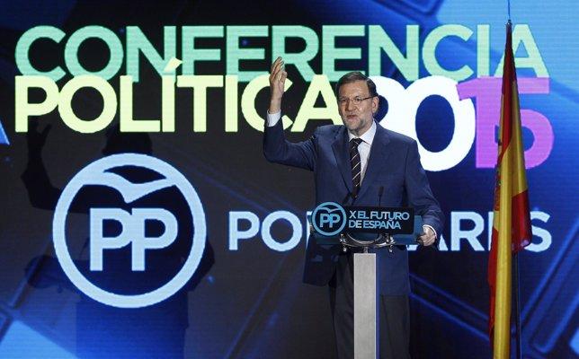 Mariano Rajoy en la conferencia del PP