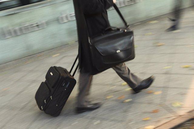 Equipaje de mano, maletas, pasajero, aeropuerto