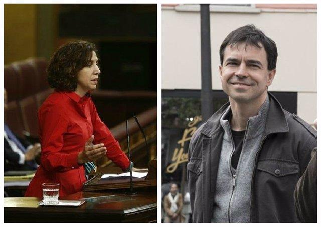 Los candidatos de UPyD Irene Lozano y Andrés Herzog