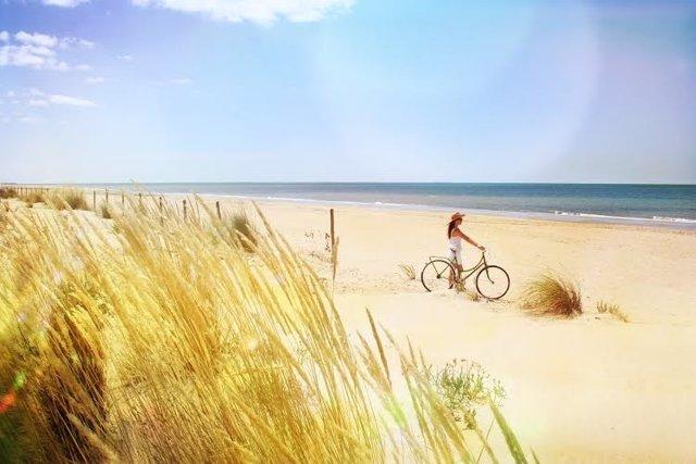 Imagen de una playa de Huelva.