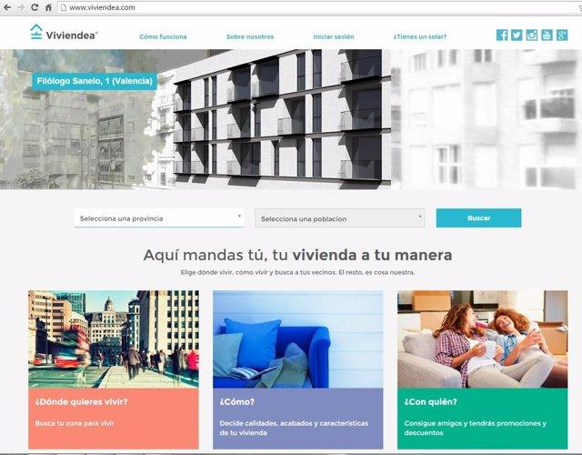 Portal web de Viviendea