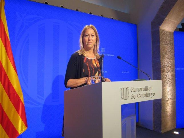 La vicepresidenta de la Generalitat y portavoz, Neus Munté