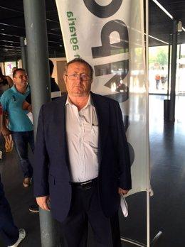 El presidente de Asopocyl, José Ramón Aguado, en la Feria de Valladolid