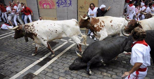 Imagen del quinto encierro de San Fermín 2015