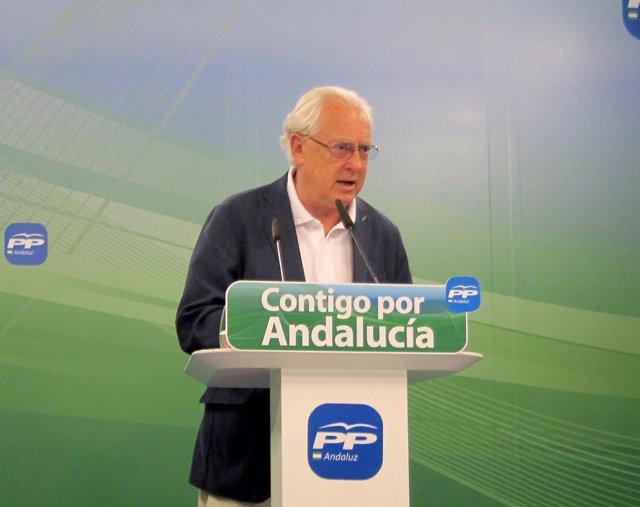El portavoz de Economía del PP-A en el Parlamento, Jaime Raynaud