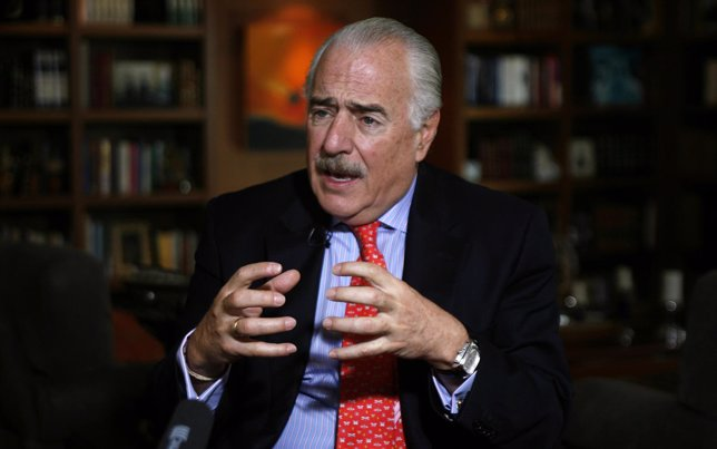 Colombia's former President Andres Pastrana speaks during an interview with Reut