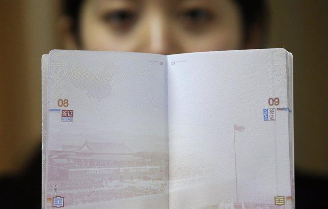 Ejemplo de pasaporte chino