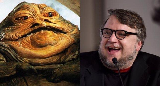 Imágenes de Jabba el Hutt y Guillermo del Toro