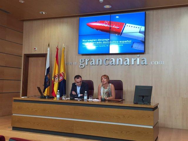 Rueda de prensa de Norwegian y el Patronato de Turismo de Gran Canaria