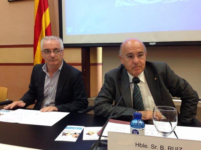 El pte.De Confederación Aspace J.Marí y el conseller B.Ruiz