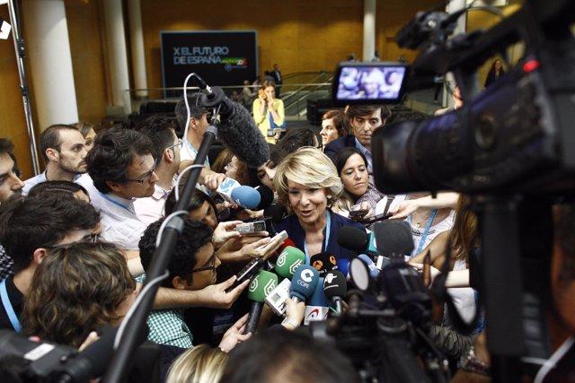 Esperanza Aguirre en la conferencia política del PP