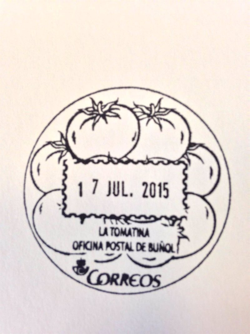 La tomatina viaja por la red postal for Oficina de correos valencia