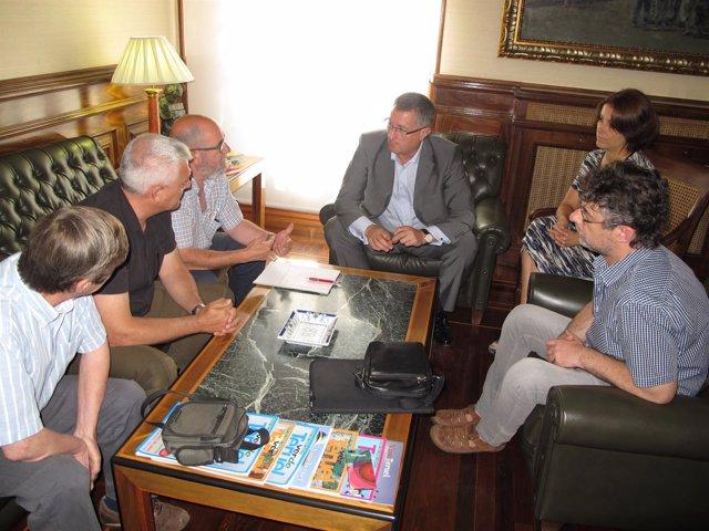 Reunión sobre el corredor Cantábrico-Mediterráneo.