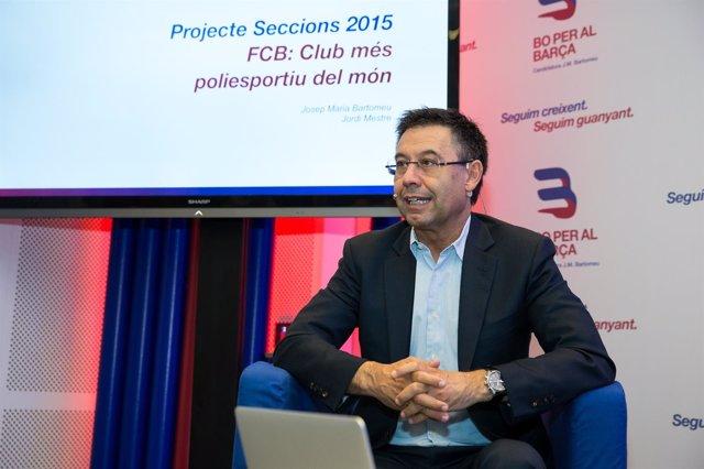 Josep Maria Bartomeu en campaña