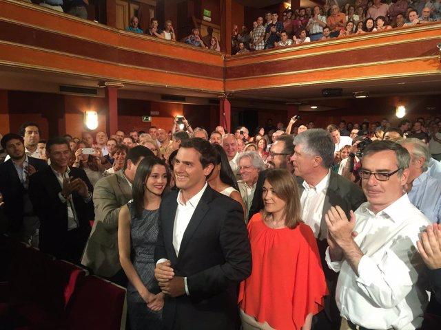 Albert Rivera en el acto de presentación de su candidatura a la Presidencia