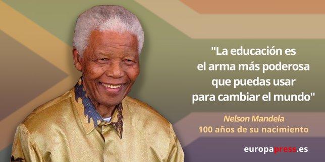 Frase De Nelson Mandela Sobre Educacion Frases De Motivao