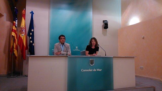 Iago Negueruela y Pilar Sansó