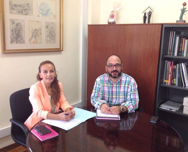 Olivia Delgado y José Antonio Valbuena