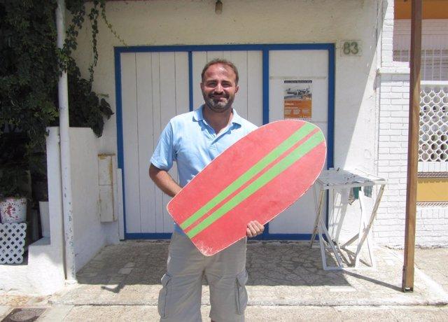 Daniel Esparza autor historiador SUrf historia málaga españa bodyboard