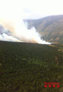 Incendio en Bellver de Cerdanya