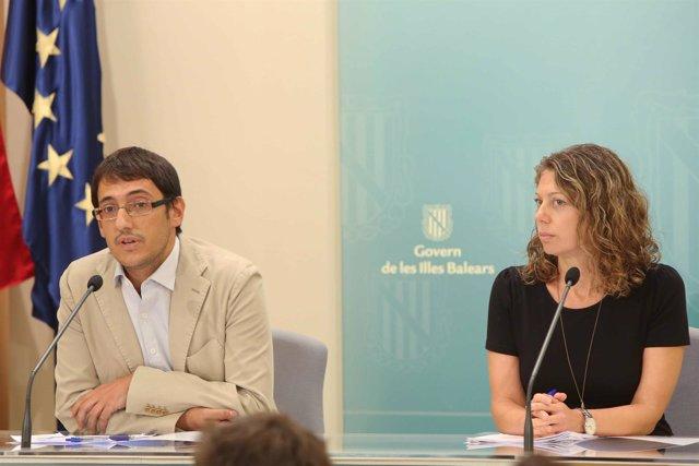 El Conseller Negueruela y la dir. Gral. Pilar Sansó