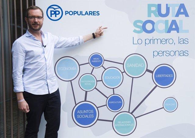 El vicesecretario sectorial del PP, Javier Maroto, presenta la ruta social