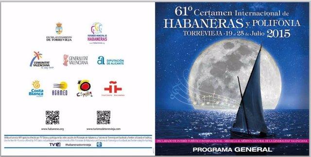 Cartel anunciador del 61 Certamen Internacional de Habaneras de Torrevieja