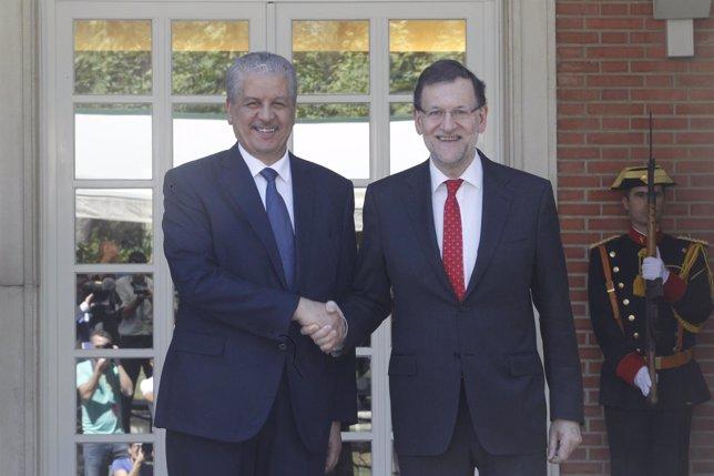 Rajoy y el primer ministro de Argelia, Abdelmalek Sellalla