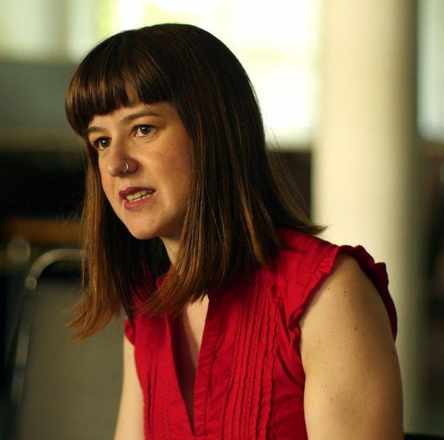 La portavoz de Podemos en la Comisión de Cultura, Lucía Alaya