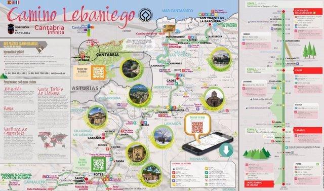 Mapa Turistico De Asturias Y Cantabria.Turismo Edita Un Mapa Guia De Los Caminos De Santiago Y