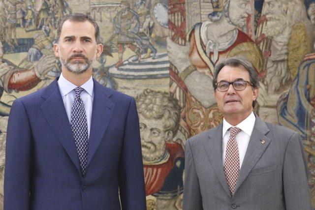 El Rey Felipe VI y Artur Mas
