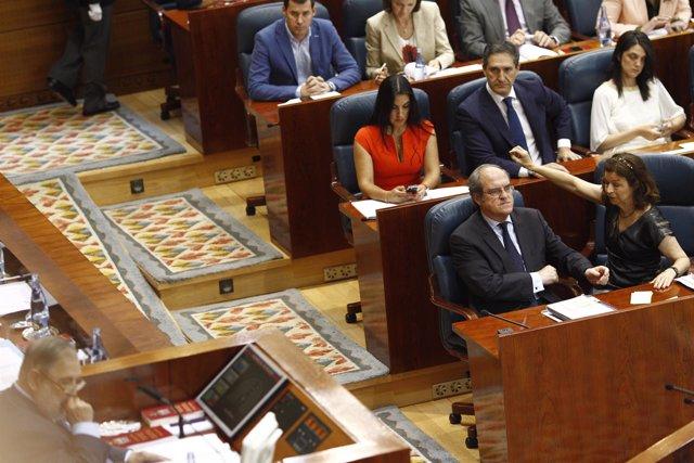 Ángel Gabilondo en la constitución de la Asamblea de Madrid