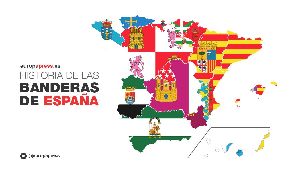 Afbeeldingsresultaat voor banderas comunidades autonomas