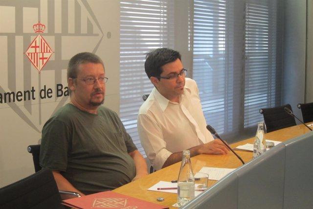 X.Domènech y G.Pisarello en rueda de prensa
