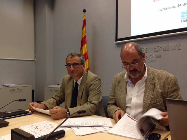 El representante del CatSalut, Francesc Brosa, y el director, J.M.Padrosa