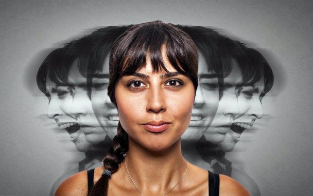Mujer con una enfermedad mental