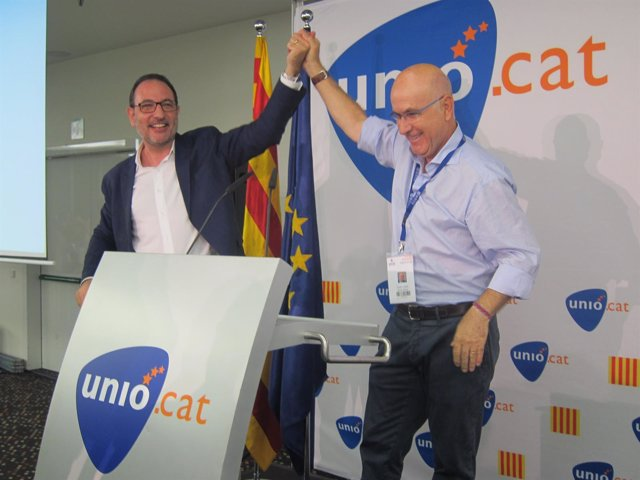 Ramon Espadaler (UDC) acompañado por Josep Antoni Duran