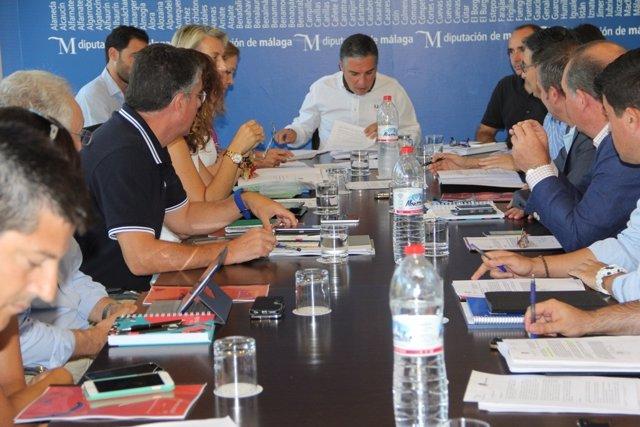 Reunión de la junta de gobierno de la Diputación de Málaga
