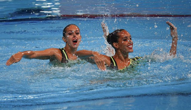 Clara Camacho Ona Carbonell dúo técnico Mundiales sincronizada Kazán