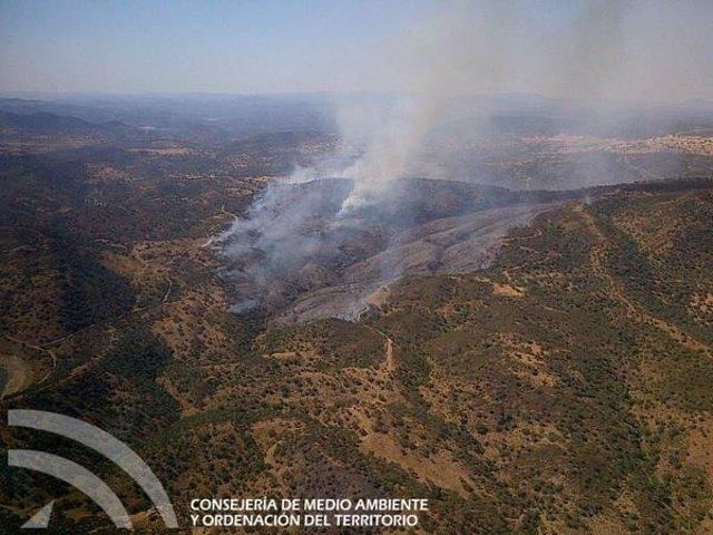 Incendio en El Ronquillo (Sevilla)