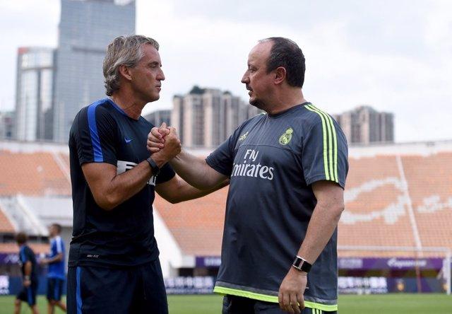 El entrenador del Inter de Milán, Roberto Mancini