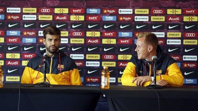 El defensa del FC Barcelona Gerard Piqué