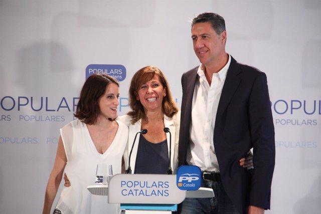 Andrea Levy, Alícia Sánchez-Camacho y Xavier Garcia Albiol