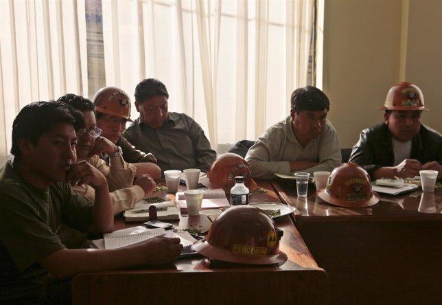 Reunión de COMCIPO con el gobierno en La Paz